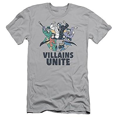 Batman The Animated Series Unite Mens Slim Fit Shirt Silver Md