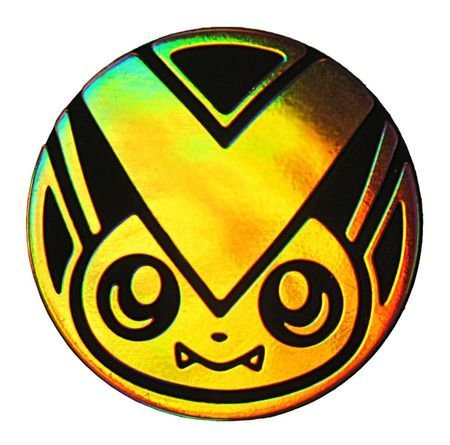Victini Coin from the Pokemon Trading Card Game (Large Size) - Gold Holo