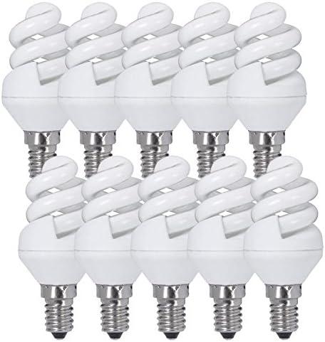 Lot /économique de 10/ampoules /à spirale /à /économie d/énergie E27 15/W lumi/ère chaude