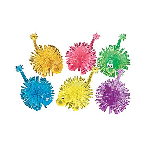 (Fun Express - Transparent Animal Porcupine (3dz) - Toys - Character Toys - Porcupine Characters - 36 Pieces)