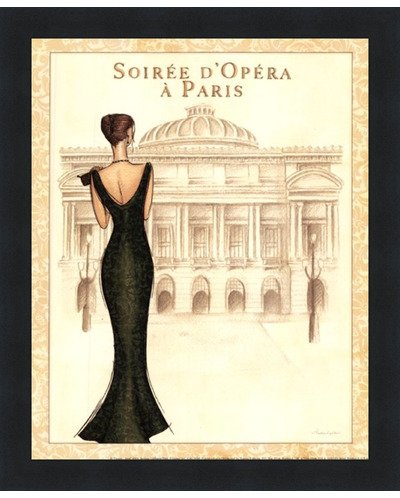 Amazon com: Poster Palooza Framed Opera - Mini- 8x10 Inches