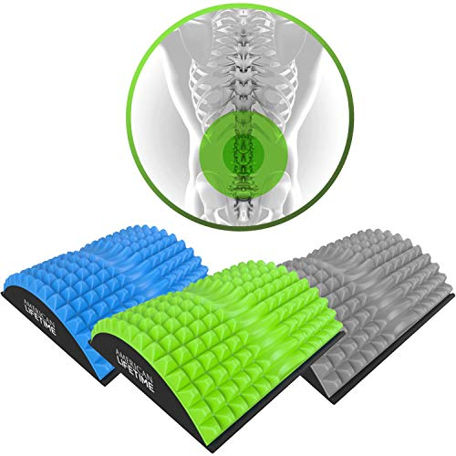 American Lifetime Lower Back Stretcher - Massage for Chronic Lumbar Pain Relief Treatment - Helps with Spinal Stenosis Sciatica Herniated Disc and Neck Muscle Pain - 1 Year Warranty - Green