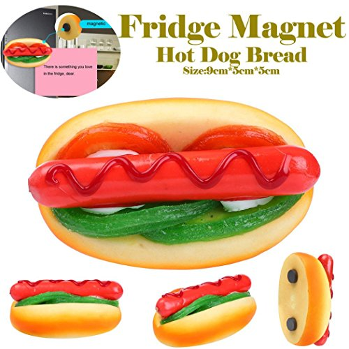 Jeeke Stress Reliever Toys, Hot Dog Slow Rising Squeeze Decompression Toys (Color C) -