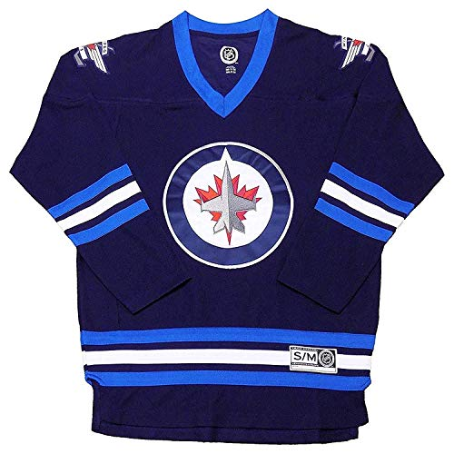 Outerstuff Winnipeg Jets Navy Premier Team Logo Men's Team Apparel Fashion Jersey (Large/X-Large) (Winnipeg Jets Hockey)