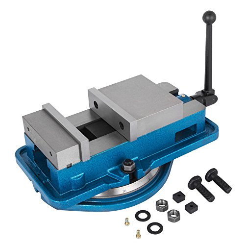 - Happybuy Bench Clamp Vise High Precision Clamping Vise 6 Inch Jaw Width w/360 Degree Swiveling Base CNC Vise