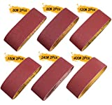 S SATC Sanding Belts 12 PCS Belt Sander Paper 4×24