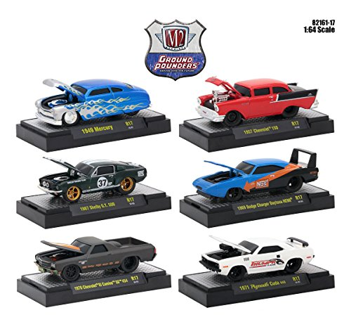 Ground Pounders 6 Cars Set Release 17 IN DISPLAY CASES 1/64 Diecast Model Cars by M2 Machines 82161-17