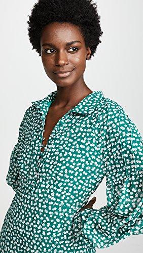 C / Femmes Collectives De Meo Être Sur Vous Bouton À Long Manche Avant Robe Jupe Plissée Marguerite Verte