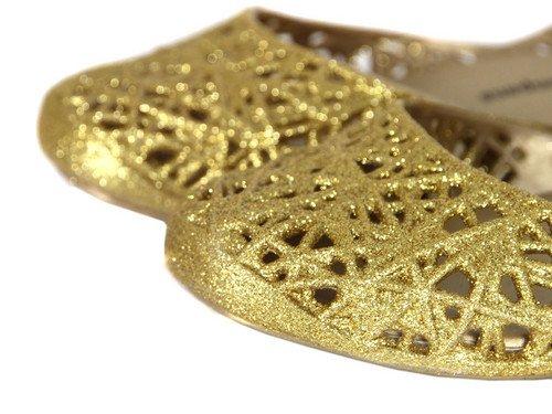 Melissa , Ballerines pour femme Or Gold Glitter