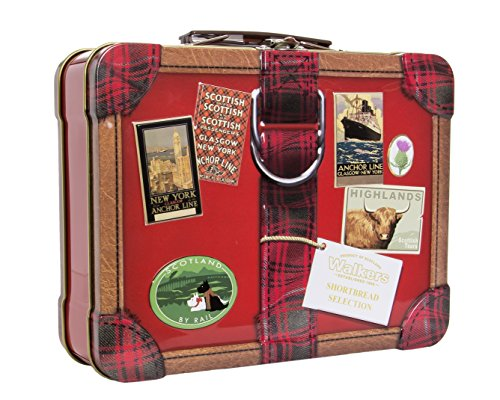 Walkers Shortbread Suitcase Tin, 8.8 Ounce Choc Shortbread