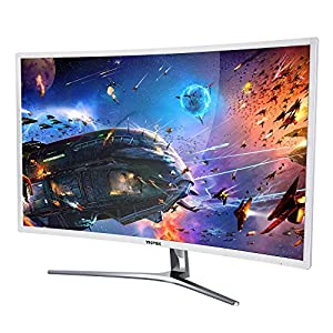 VIOTEK NB32C 32 Inch Curved Computer Monitor Full HD 1920x1080 Large Widescreen Samsung Panel With HDMI DVI VGA For Desktop PC