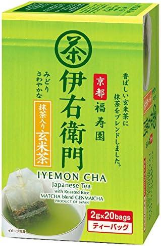 宇治の露製茶 伊右衛門 抹茶入り玄米茶 ティーバッグ (2g×20袋)×12箱入