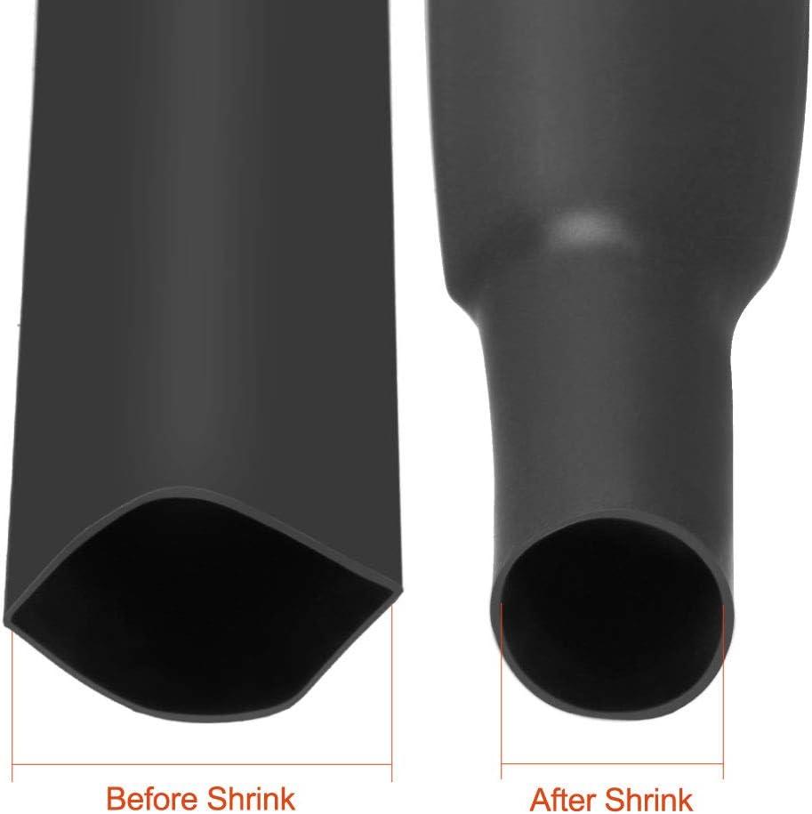 uxcell Heat Shrink Tubing 13mm Dia 21mm Flat Width 2:1 Heat Shrink Wrap Cable Sleeve Heatshrink Tube 10m White