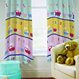 Love Your Home / Trains Kids Multi Curtains 66 x 54 / Matches Duvet Set by Love Your Home