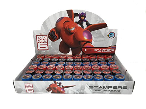 Disney Big Hero 6 Self-inking Stamps Birthday Party Favors 36 Pieces by Disney