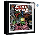Bargain World Star Wars Boba Fett Shooting Shadow Box (With Sticky Notes)