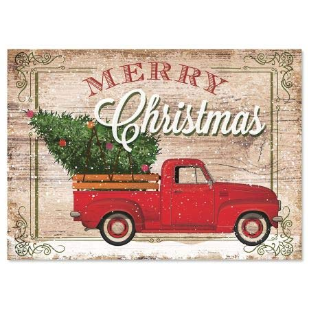 Red Truck Personalized Christmas Cards - Holiday Greeting Cards, Set of 18, Large 5