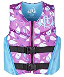 Full Throttle Youth Rapid Dry Flex-Back Life Jacket, Purple