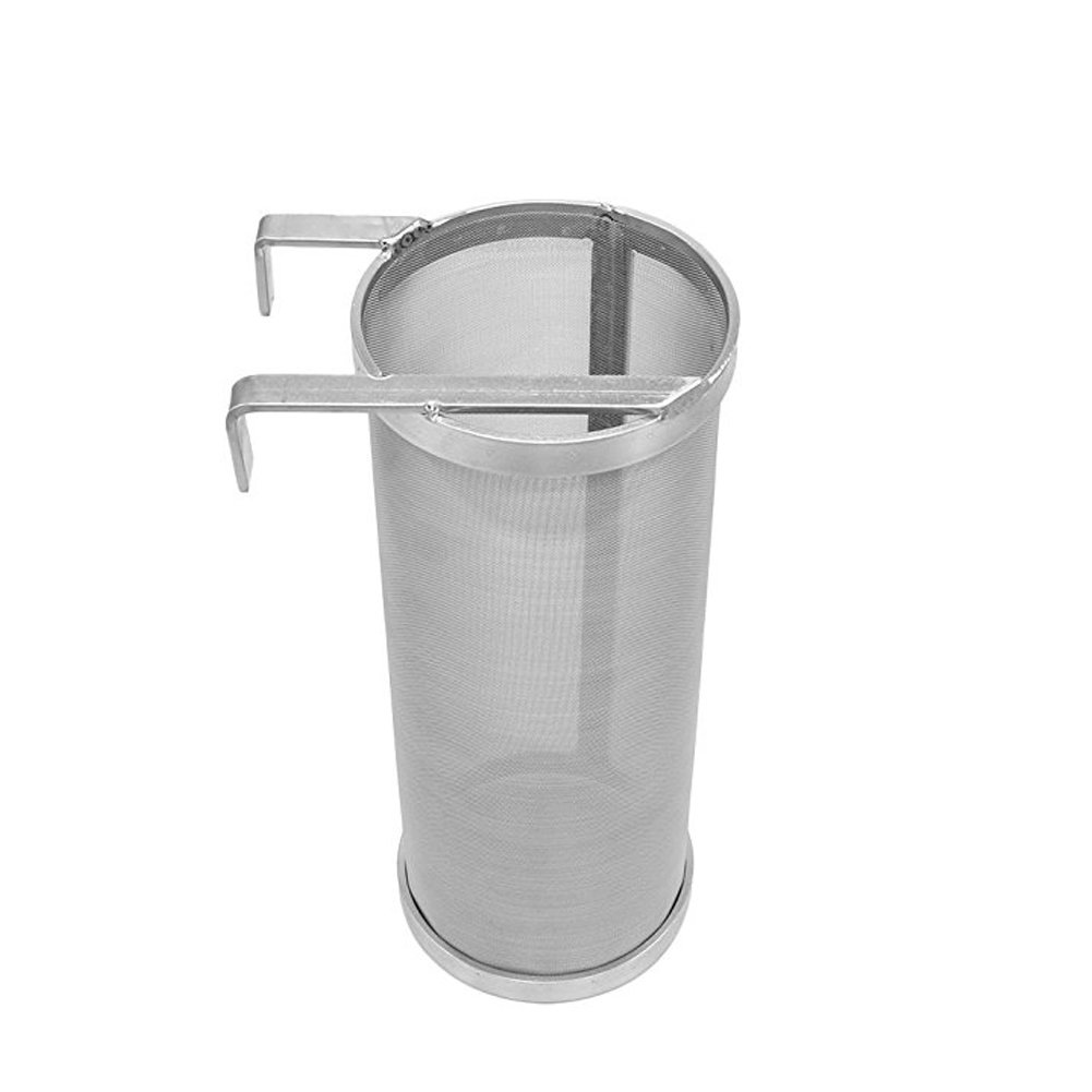 Hopper Filter, Wrewing Stainless Hooked 4x10inch Hopper Spider Strainer 300micron for Home Brew Pellet Hop