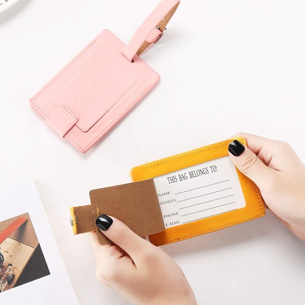 Etiquetas Personalizadas de Piel para Maleta Paquete de 5 Etiquetas de Equipaje con Cubierta de privacidad para Accesorios de Viaje