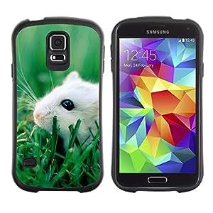 Suave TPU GEL Carcasa Funda Silicona Blando Estuche Caso de protección (para) Samsung Galaxy S5 / CECELL Phone case / / Happy Cute Pet Rat /