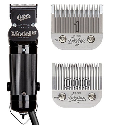 - Oster Model 10 Classic Professional Barber Salon Pro Hair Grooming Clipper With blades Size 000 And 1.