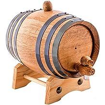 Barril de roble americano | hecho a mano utilizando roble blanco americano | añeja tu propio de whisky, cerveza, vino, borbón, tequila, salsa picante y más