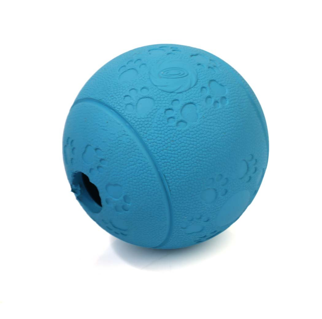bluee Medium bluee Medium Dog Food Ball Toys,New Natural Rubber Bite Resistance, IQ Training Pet Dog Food  Toy Ball Dogs Bite Toys for Medium Small Dogs (color   bluee, Size   M)