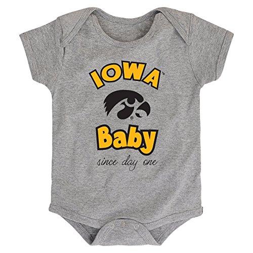 Iowa Hawkeye Baby Clothes - NCAA Iowa Hawkeyes Newborn & Infant Team Baby Bodysuit, 6-9 Months, Heather Grey