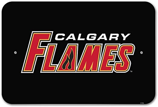 Amazon Com Graphics More Nhl Calgary Flames Logo Home Business Office Sign Home Kitchen