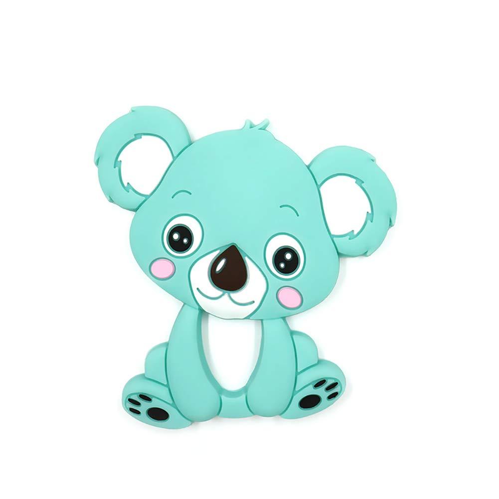 Molar juguete de silicona Mordedor 1pcs de dibujos animados de koala animal para el bebé (púrpura) Hilai