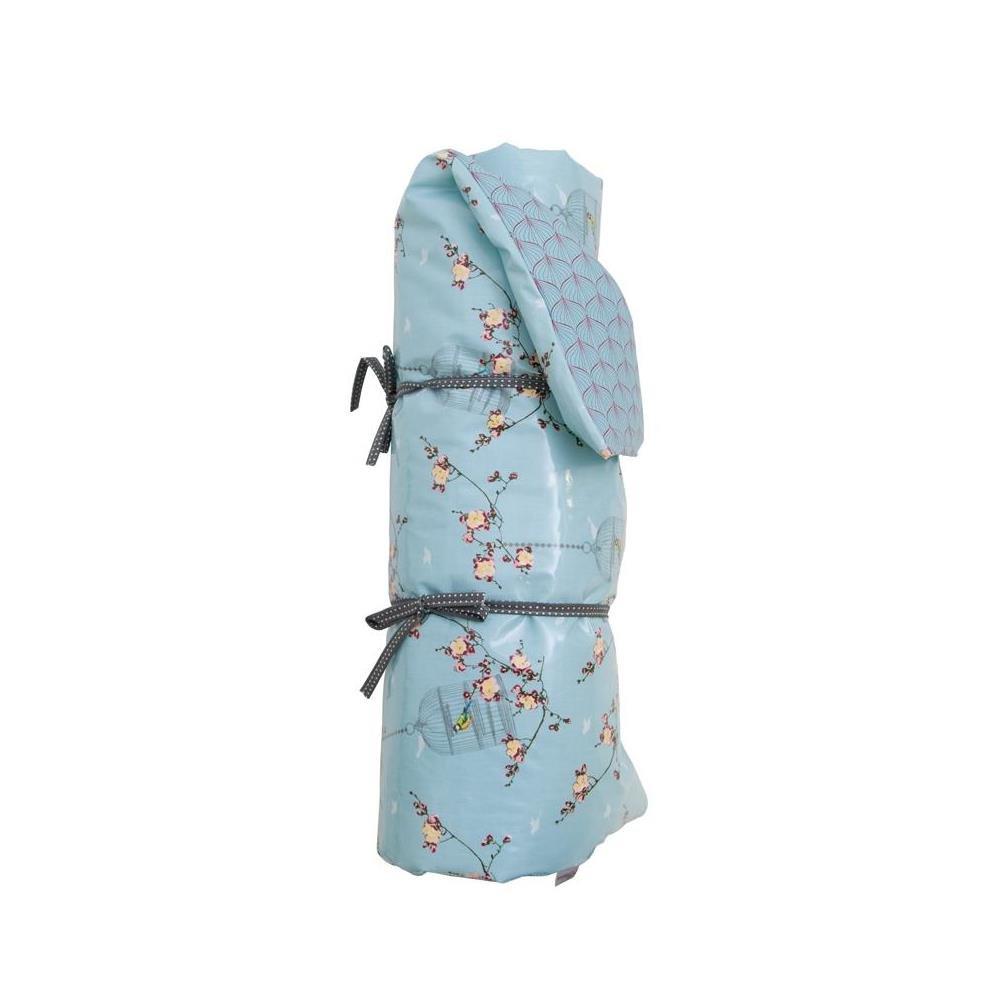 Picknickdecke Cherry Blossom KIRSCHBLÜTEN blau, wendbar, 70x180cm, A.U Maison
