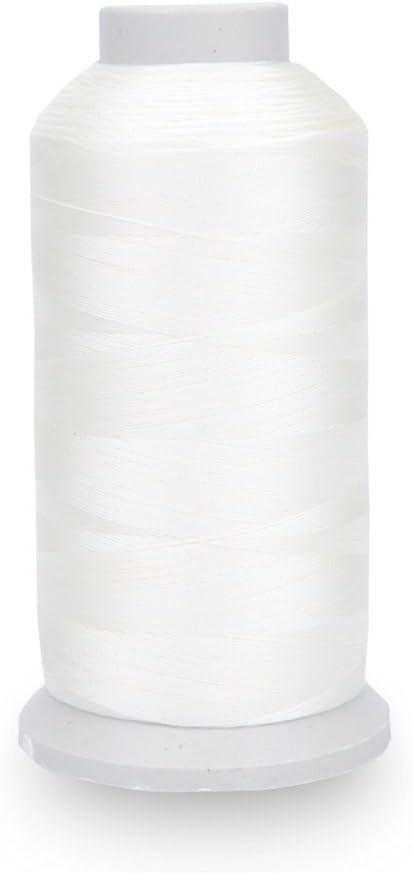 allbusky Bonded Nylon hilo de coser resistente para máquina de coser costura a mano tapicería al aire libre mercado Drapery Beading equipaje Bolsos blanco: Amazon.es: Hogar
