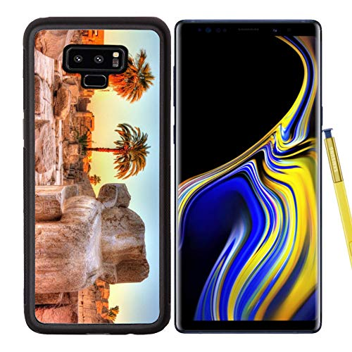Luxlady Samsung Galaxy Note 9 Case Aluminum Backplate Bumper Snap Cases Image ID: 36943413 Broken Ancient Statue at The Karnak Temple Luxor Egypt - Luxor Design Crystal