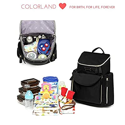 Designer Diaper Backpack, Perfect for Both Moms and Dads, Spacious Interior And a Plethora of Inside Easy-To-Access Pockets, Sophisticated and Lightweight Baby Bag With Changing Pad, Black