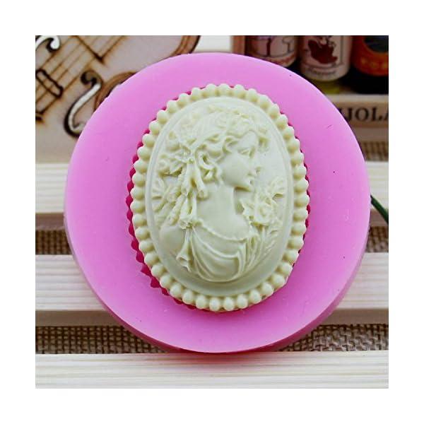 1X stampo in silicone ragazza Avatar Stile, Cubo di ghiaccio vassoi Cioccolato di Silicone stampo usare per torte, Cioccolato, gelati, torte, saponi, Cioccolato stampo (Rosa) 1 spesavip