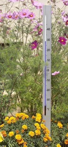 TFA CENTRAL PARK Design-Gartenthermometer Alu 122005