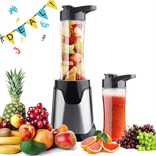 - Professional Personal Small Blender Smoothie Maker,Portable Electric High-Speed Blender for Smoothies, Ice and Frozen Fruit, with Tritan Travel Sport Bottle, BPA-Free