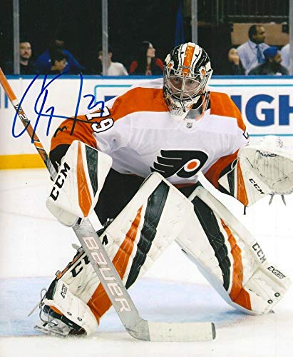 Autographed Carter Hart Photo - 8X10 w COA - Autographed NHL Photos