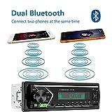 Single Din Car Stereo with Dual Bluetooth, FM Radio