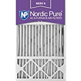 Nordic Pure 16x25x5HM8-1 MERV 8 Honeywell Replacement Air Filter , 16x25x5, Box of 1
