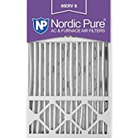 Nordic Pure 16x25x5 (4-3/8 Actual Depth) MERV 8 Honeywell Replacement Pleated AC Furnace Air Filter, Box of 4