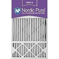 Nordic Pure 16x25x5HM8-1 MERV 8 Honeywell Replacement Air Filter, 16x25x5, Box of 1