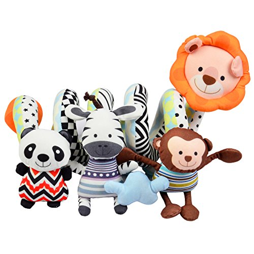 Totmart Lion Baby Activity Spiral Toy, Stroller Toy, Bed Hanging Toys, Car Seat Toy (Spiral Activity)