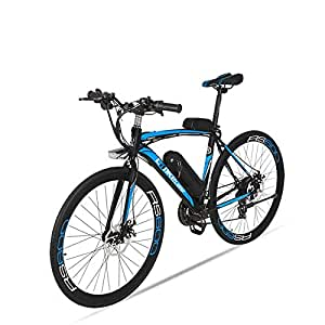 MERRYHE Bicicleta eléctrica para Adultos Bicicleta eléctrica de Carretera Ciclomotor Bicicleta extraíble Batería de Litio,