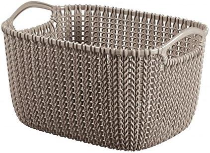 CURVER 3253923974300 Caja y Cesta de almacenaje - Cajas y cestas de almacenaje (Storage Basket, Marrón, Prendas de Punto, Monótono, Rectangular, Interior)