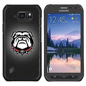 TECHCASE---Cubierta de la caja de protección para la piel dura ** Samsung Galaxy S6 Active G890A ** --G Bulldog Inglés Bulldog Dog
