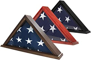 product image for flag connections US Made Flag Case for 3' x 5' Flag,Cherry Finish