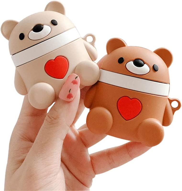 Teddy Bear Heart AirPods Cases