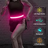 BSEEN LED Running Belt, USB Rechargeable Glowing